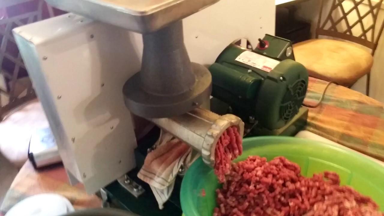 22 homemade motorized meat grinder Part