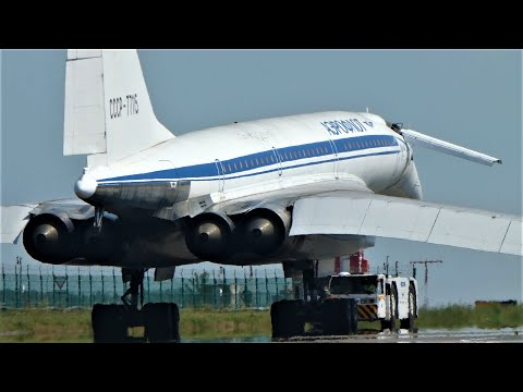 Ту-144 и Ту-134 Аэропорт Жуковский. Встреча легенд гражданской авиации.