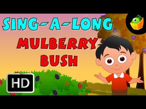 Karaoke: The Mulberry Bush - Songs With Lyrics - Cartoon/Animated Rhymes For Kids