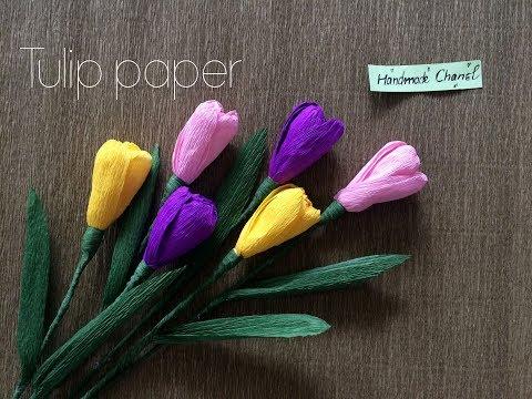 Diy Tulip paper flower - HMC Art