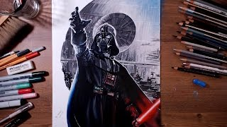STAR WARS : Darth Vader - speed drawing | drawholic