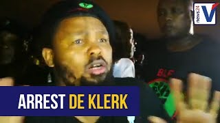 BLF: This is a scheme of white people to shut down Jacob Zuma; arrest De Klerk instead