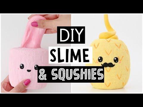 MAKING 4 AMAZING DIY SLIMES & SQUISHIES - Testing NO GLUE Fluffy Slime!
