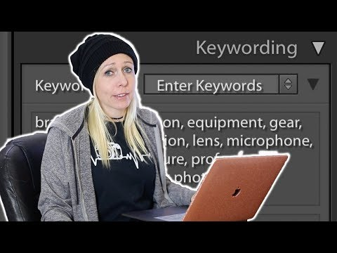 KEYWORD HACK: Quick way to add keywords to your stock photos & save time using Lightroom