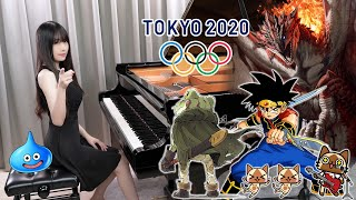 Tokyo 2020 Olympic Opening Game Music「Frog's Theme / Dragon Quest / Proof of a Hero」Piano Medley