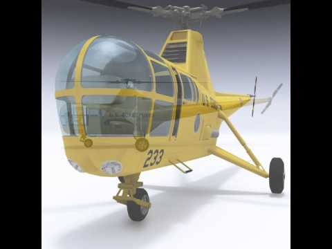 3D Model Sikorsky H-5 - S-51 at 3DExport.com