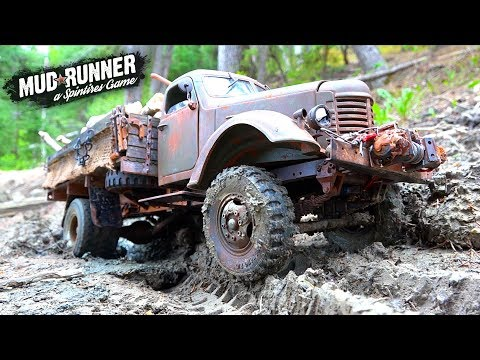 RC ADVENTURES - MUD✮RUNNER - a SPiNTiRES PARODY: MUDViLLE 2WD Open Differential KR11 Log Haul