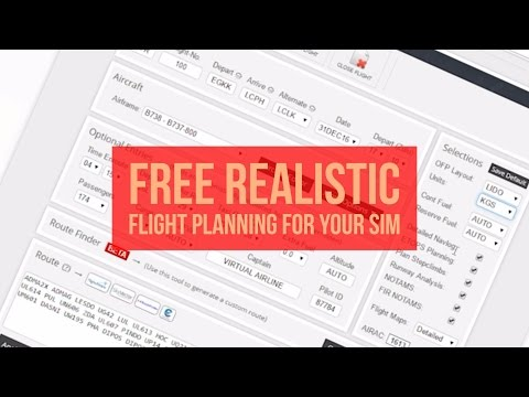 FREE Realistic Flight Planning For Your Flight Simulator - Includes Weather, NOTAMS And More!