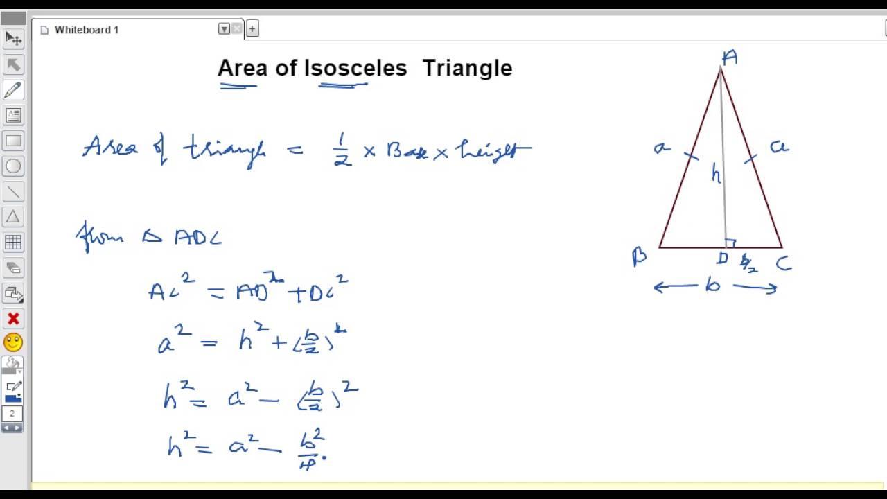 Area Of Isosceles Triangle