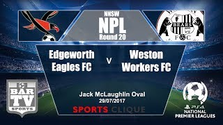 Edgeworth Eagles vs Weston Workers full match