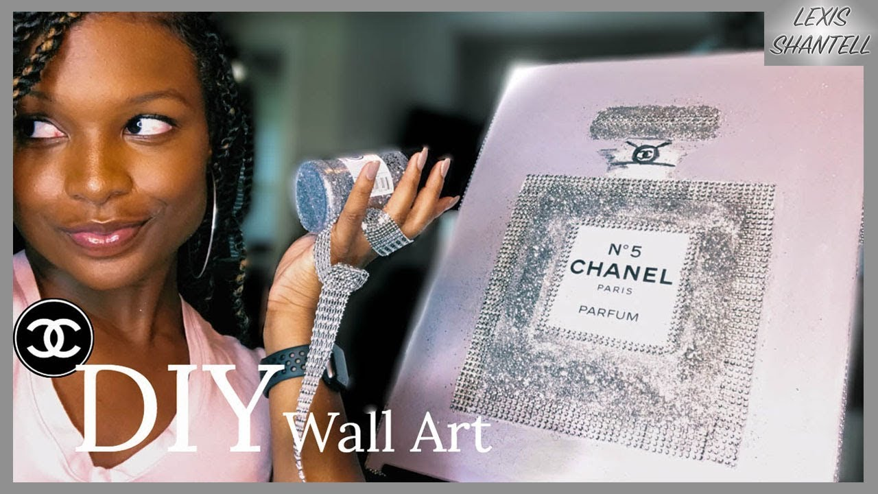 DIY CHANEL PERFUME DECOR   How To Decorate On A Budget ...