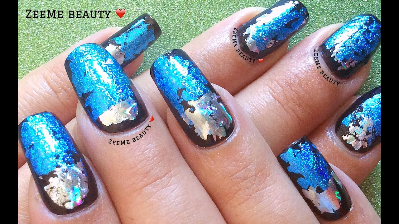 How to transfer Nail Foils without using Glue (Very Easy Tutorial ...