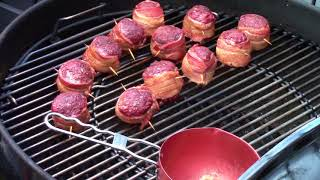 Moink Balls lightly smoked with cherry