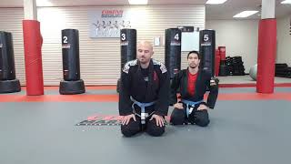 Bottom Turtle Position Submission - Rolling Toe Hold (Cosens martial Arts)