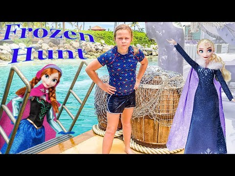 Assistant Hunts for Frozen Elsa and Anna On Disney Castaway Cay
