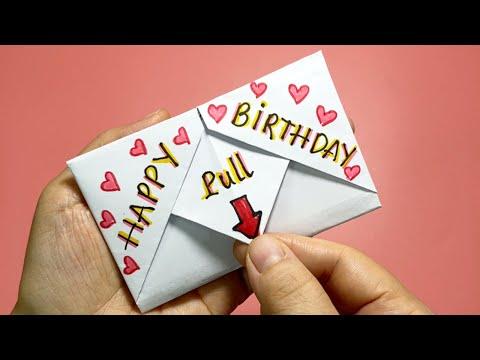Cách làm thiệp sinh nhật đơn giản chỉ 1 tờ giấy | How to make Birthday card| Liam Channel | Foci