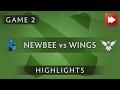 Newbee vs the wings gaming [Game 2] Dota 2 Professional League 2016 - Dota Highlights