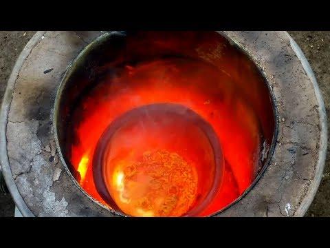 Stainless Steel Crucible Test - melting brass