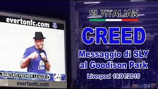 CREED - Messaggio di Sylvester Stallone e le riprese allo stadio Goodison Park