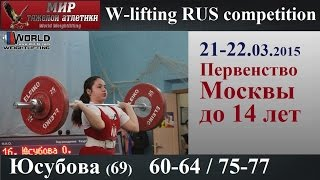 21-22.03.2015.YUSUBOVA-69.(60,64/75,77).Moscow Championship to 14 years.