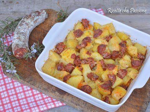 Patate al forno con salsiccia calabrese ricette che for Ricette con patate