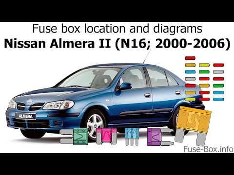 Fuse box location and diagrams: Nissan Almera II (N16; 2000 ... Nissan Almera Tino Fuse Box on