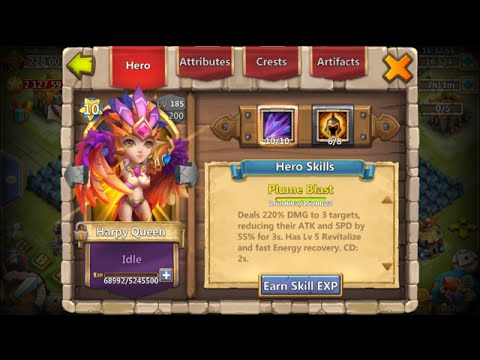 Testing Out My Double Evolved Harpy Queens Damage 6/8 WG Castle Clash