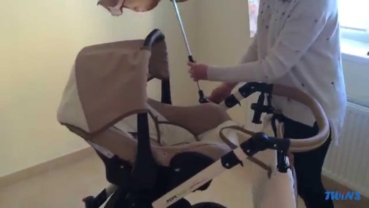 Санки-коляска, санимобиль, универсани, сани с колесами - YouTube
