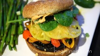 Portobello Mushroom Burger Recipe - Heghineh Cooking Show