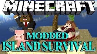 I GOT A PET FISH Minecraft Modded Survival Island Let