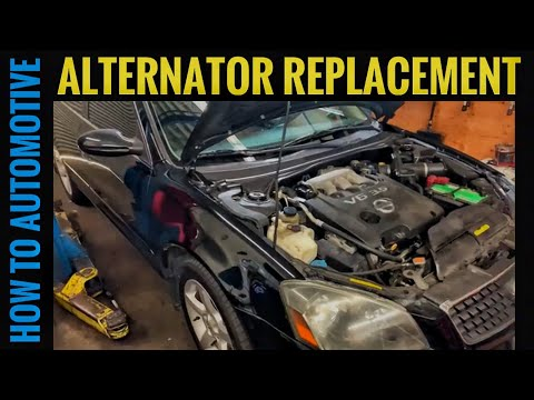How to Replace the Alternator on a 2002-2006 Nissan Altima SE 3.5L