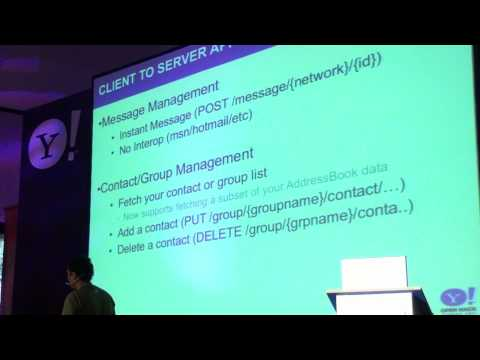 Open Hack Europe - Yahoo! Messenger API