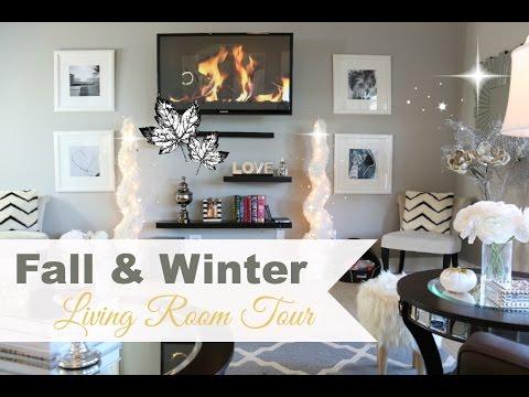 Living Room Tour Fall Winter Misslizheart YouTube