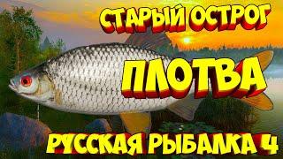 русская рыбалка 4 Плотва озеро Старый Острог рр4 фарм Алексей Майоров russian fishing 4