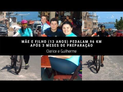 Mãe e filho de 13 anos pedalam 96 km após 3 meses de preparação