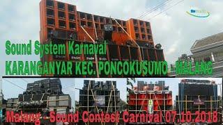 Gambar cover Sound System Karnaval Karanganyar Poncokusumo viral    Sound Contest Carnival - Malang 07.10.2018