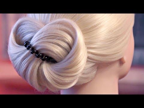 Причёска на резинке - Восьмёрка - Очень быстро! - Hairstyles by REM