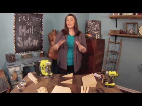 How to Make a Wooden Mail Sorter