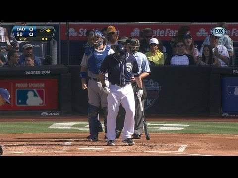 LAD@SD: Padres fans react Greinke-Quentin matchup