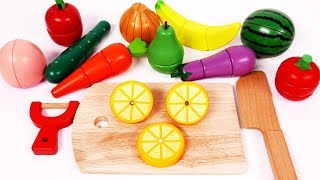 Learn Colors Kids with Vegetables Fruit Cutting Pretend Playset  Blender Playing Kitchen and Cooking