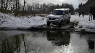 Тест-драйв нового УАЗ Патриот,  обзор UAZ patriot 2017 проезд через воду(, 2017-02-16T15:42:40.000Z)
