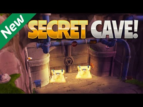 NEW SECRET CAVE! (Fortnite Battle Royale)