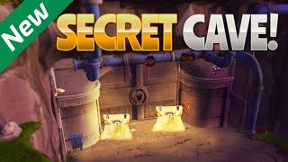 NEW SECRET CAVE! (Fortnite Battle Royale) | rhinoCRUNCH