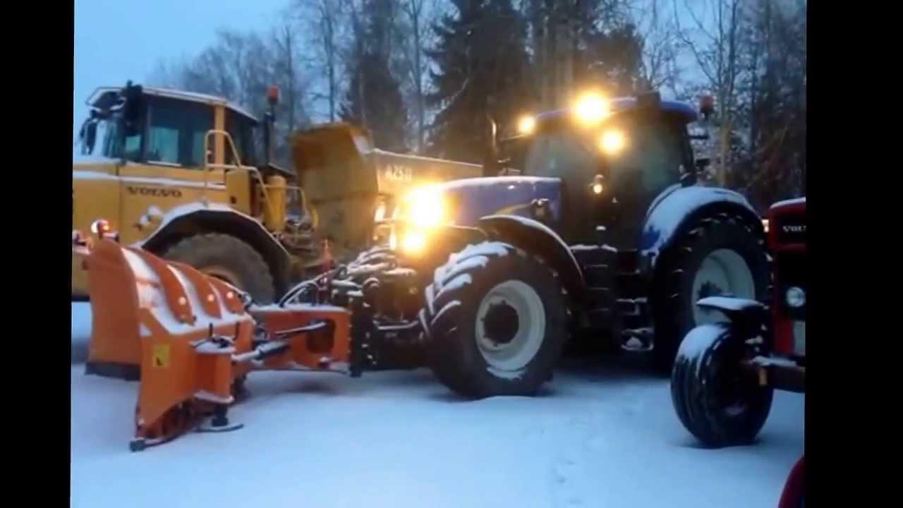 Uppvarmning Infor Snorojning New Holland Traktor