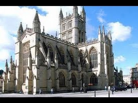 BATH ABBEY and THE ROMAN BATHS ~ City of Bath,  England