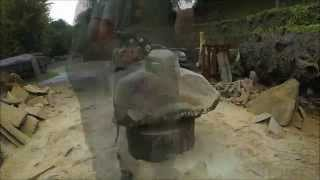 Chainsaw Dave: Time Lapse Chainsaw Carving - 'Mole' Sculpture
