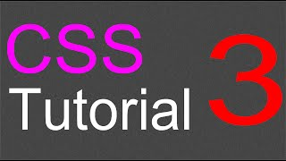 CSS Layout Tutorial - 03 - Adding header and navigation section