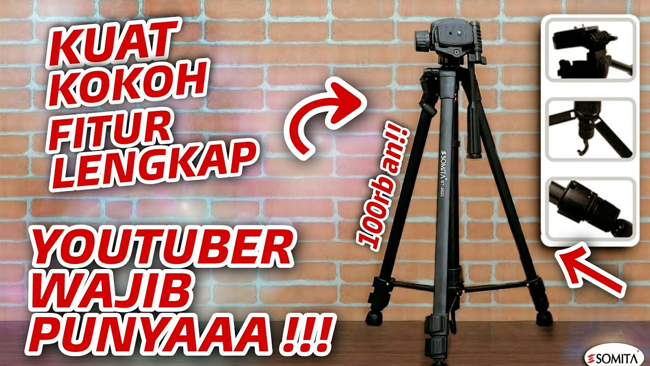 review tripod 100 ribuan youtuber pemula wajib punya somita st 3520 indonesia short. Black Bedroom Furniture Sets. Home Design Ideas