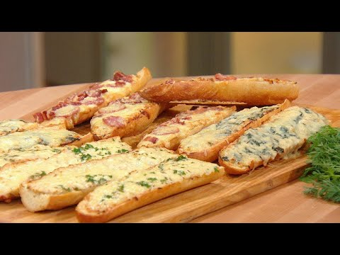 3 Ways To Make French Bread Pizza With French Onion Dip | Rachael Ray Show