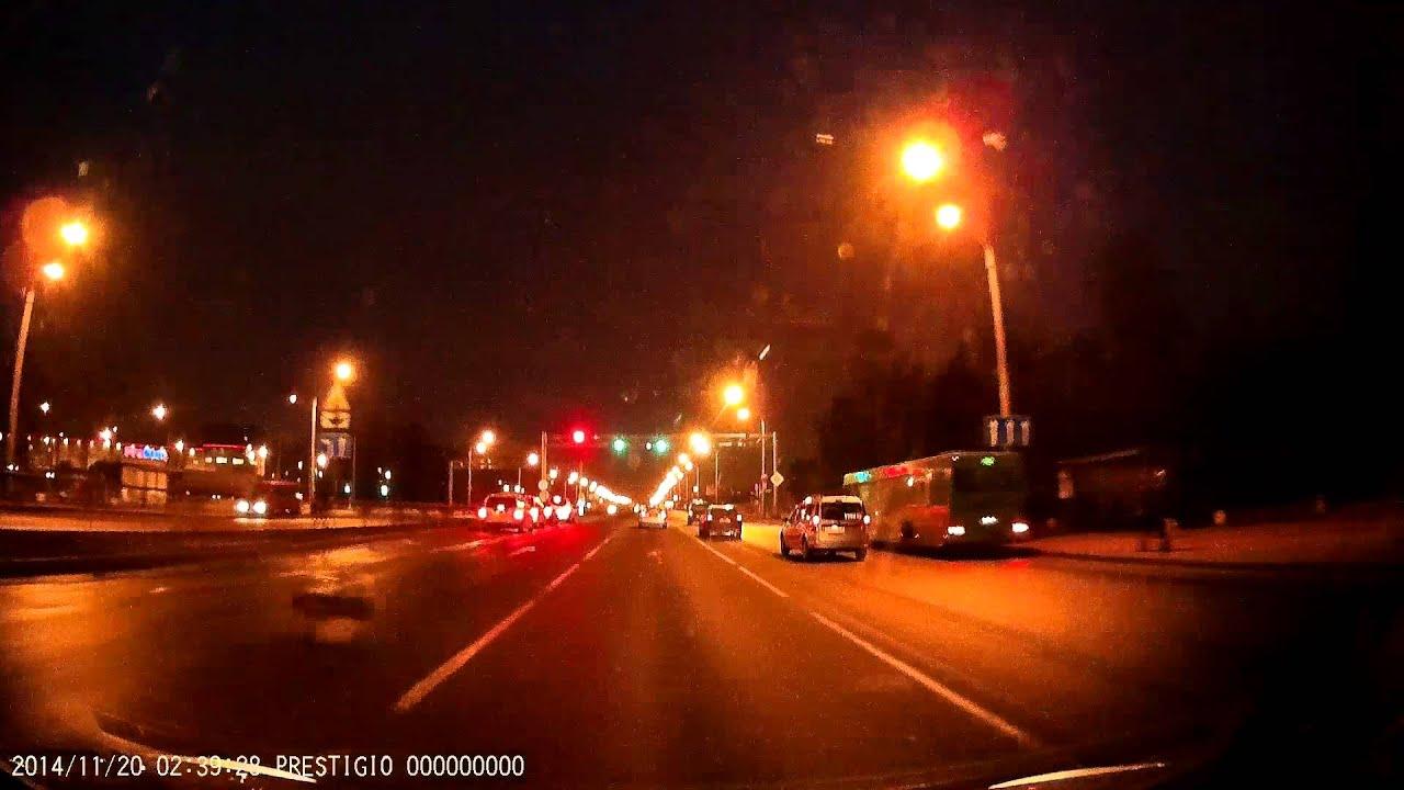 Prestigio RoadRunner 545. Минск (город). Ночь.